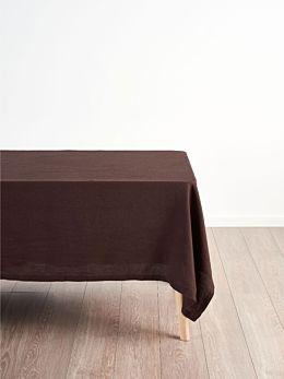 Nimes Espresso Linen Tablecloth