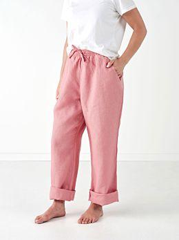 Nimes Rosette Linen Pants