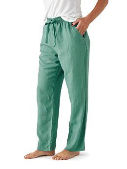 Nimes Sea Foam Linen Pants