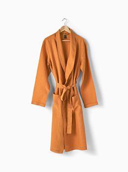 Nimes Terracotta Linen Robe