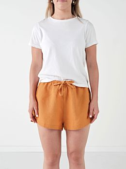 Nimes Terracotta Linen Shorts