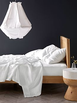 Pure Linen White Sheet Set