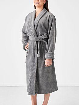 Plush Charcoal Robe