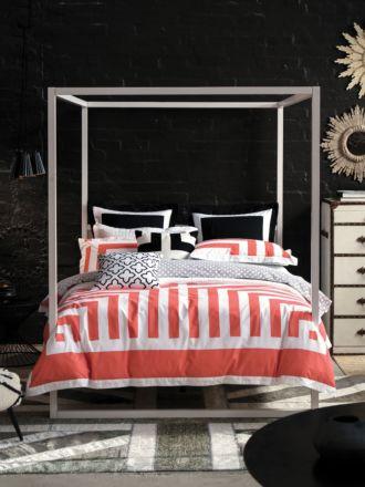 Lexy Mandarin Quilt Cover Set