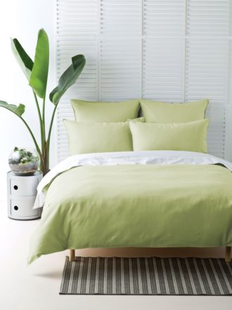 Waffle Lime Quilt Cover Set