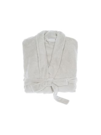 Super-Soft Grey Bath Robe