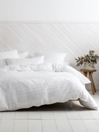 Cameron White Quilt Cover Set
