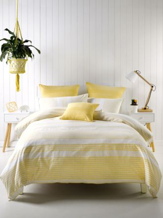 Pacey Yellow Quilt Cover Set