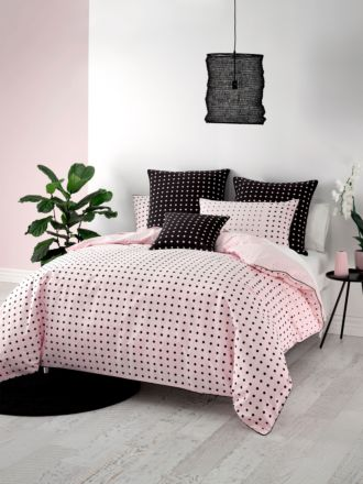 Point Pink Quilt Cover Set