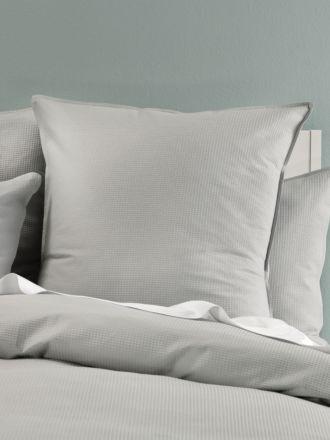 Waffle Silver European Pillowcase