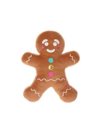 Gingerbread Man Novelty Cushion