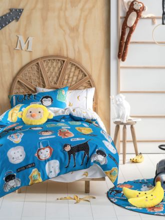 Monkey Business Quilt Cover Set