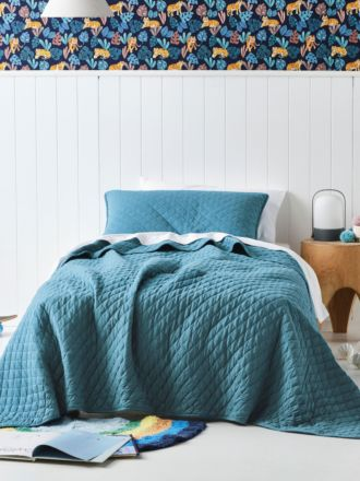 Tee Teal Coverlet Set