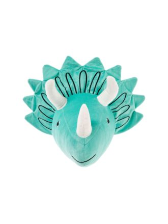 Triceratops Head Novelty Cushion