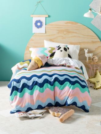 Wavelength Pink Quilt Cover Set