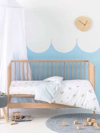 Whale Of A Time Cot Quilt