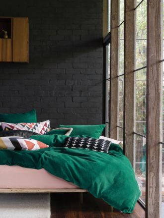 Willow Emerald Quilt Cover Set