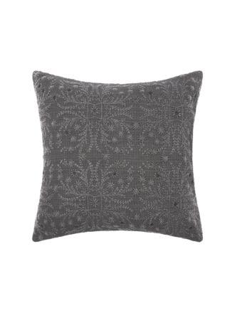 Abigail Charcoal European Pillowcase