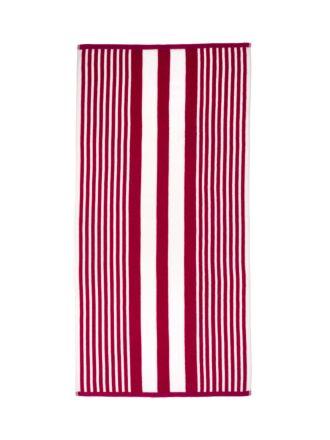 Cabana Stripe Red Beach Towel