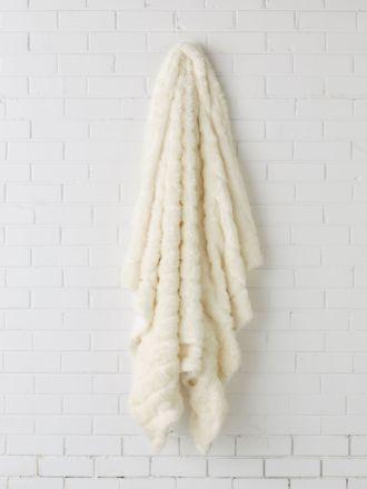 Chanel White Throw