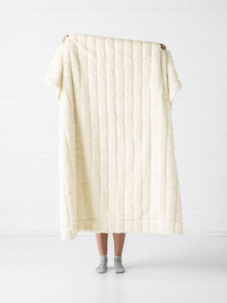 Chanel White Throw