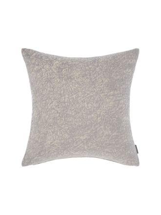 Chenille Silver Cushion 43x43cm