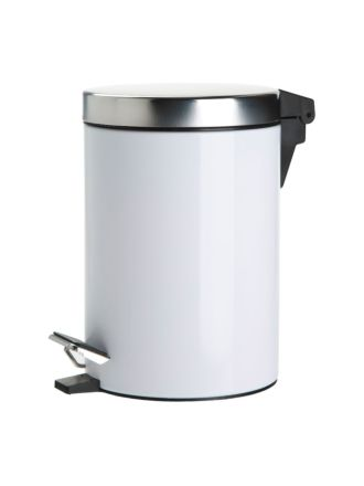 Stainless Steel White Tidy Bin