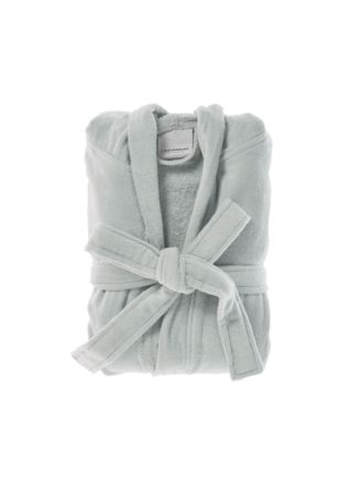 Cotton Velour Grey Robe