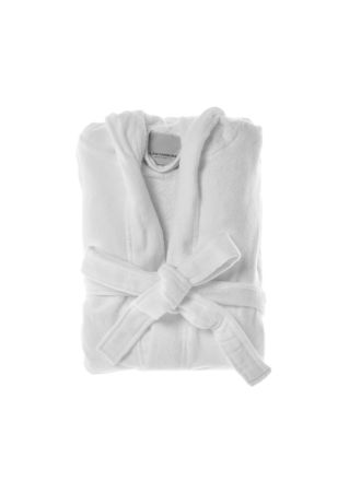 Cotton Velour White Robe