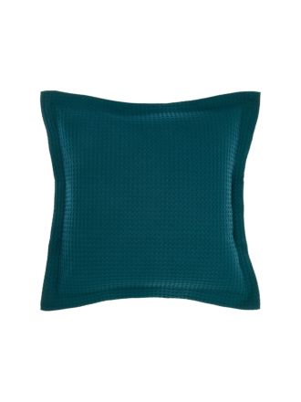 Deluxe Waffle Teal European Pillowcase