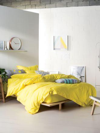 Elka Yellow Quilt Cover Set