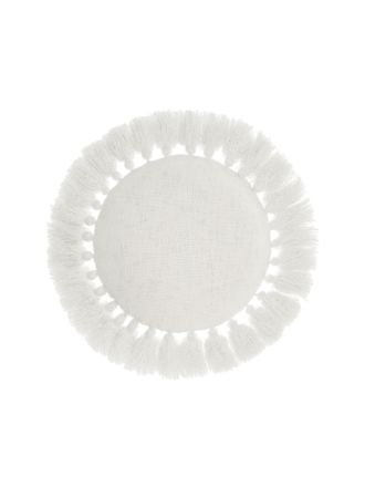 Florida White Cushion 45cm Round