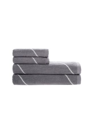 Geode Grey Towel Collection