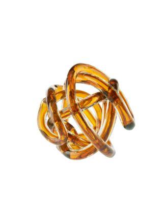 Glass Knots Caramel Décor 12cm