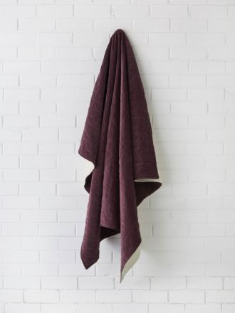 Kew Aubergine Throw