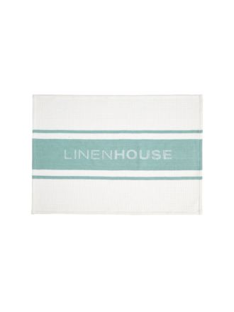 Linen House Sea Foam Tea Towel