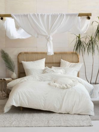 Mickael White Quilt Cover Set