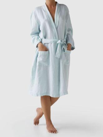 Nimes Blue Linen Robe