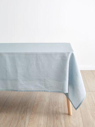 Nimes Blue Linen Tablecloth