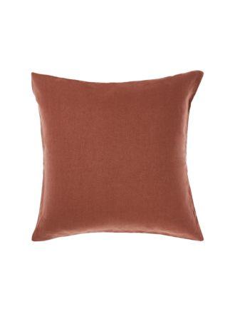 Nimes Rust Linen European Pillowcase