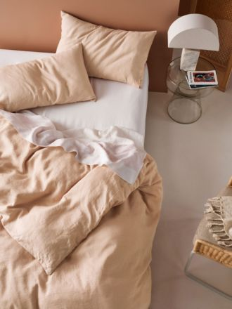 Nimes Nude Linen Quilt Cover Set