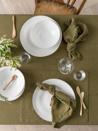 Nimes Olive Linen Placemat