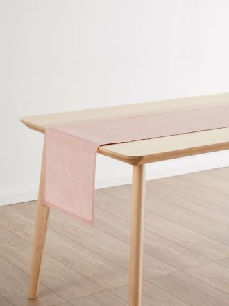 Nimes Pink Linen Table Runner