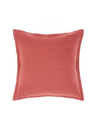 Nimes Tailored Linen Sangria Cushion 48x48cm