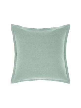 Nimes Sea Foam Tailored Linen Cushion 48x48cm