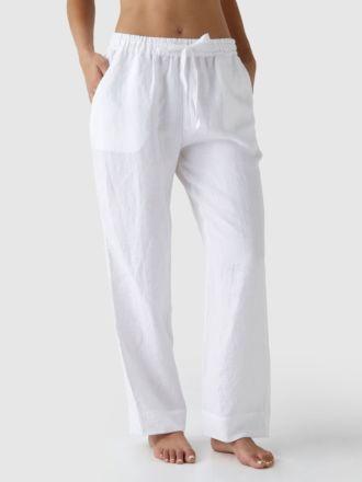 Nimes White Linen Pants
