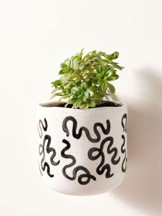 Paterna Black Squiggle Planter Pot 15cm