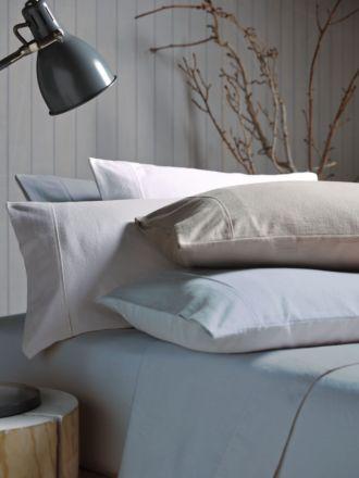 Flannelette White Plain-Dyed Sheet Set