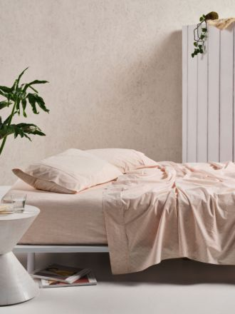 Sadie Peach Sheet Set