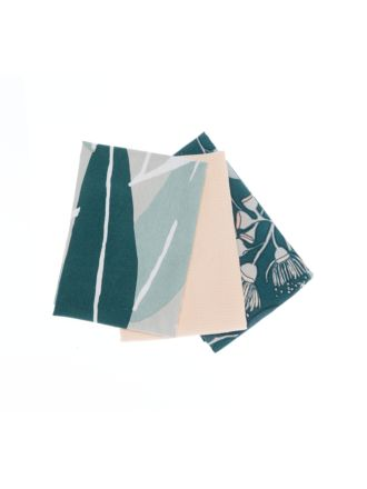 Squiggly Gum 3-Piece Tea Towel Set